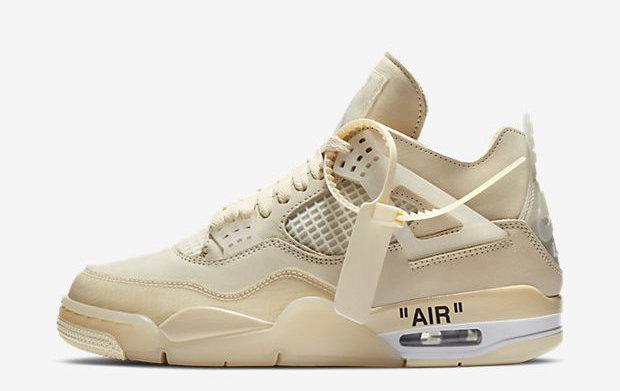 "Off-White x Air Jordan 4 ""Sail"" Where to Buy - Sneaker Links"